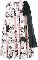 Prada comics print skirt