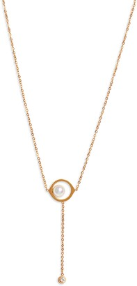 Knotty Imitation Pearl Y-Necklace