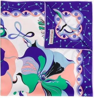 Emilio Pucci Mirabilis Print Silk-Twill Square Scarf