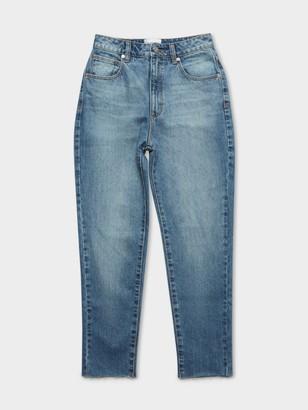 A Brand 94 High Slim Jeans in Tiffany Blue Denim