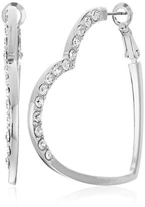 GUESS Heart Hoop Earrings