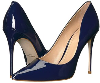 Massimo Matteo Pointy Toe Pump 17 (Azul Patent) Women's Shoes