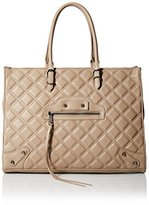 Steve Madden Steven Women's Zinnia Quilted Tote, Taupe