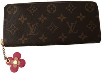 Louis Vuitton Clemence Brown Cloth Wallets