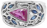 LeVian Corp Le Vian Grand Sample Sale Ring featuring Bubble Gum Pink Sapphire Blueberry Sapphire set in 18K Vanilla Gold Family