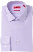 BOSS Mabel Mini Check Sharp Fit Dress Shirt