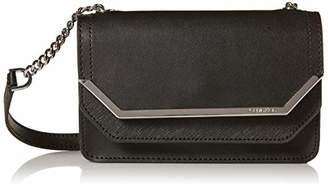 Calvin Klein Tessie Calf Split Leather Flap Over Small Crossbody