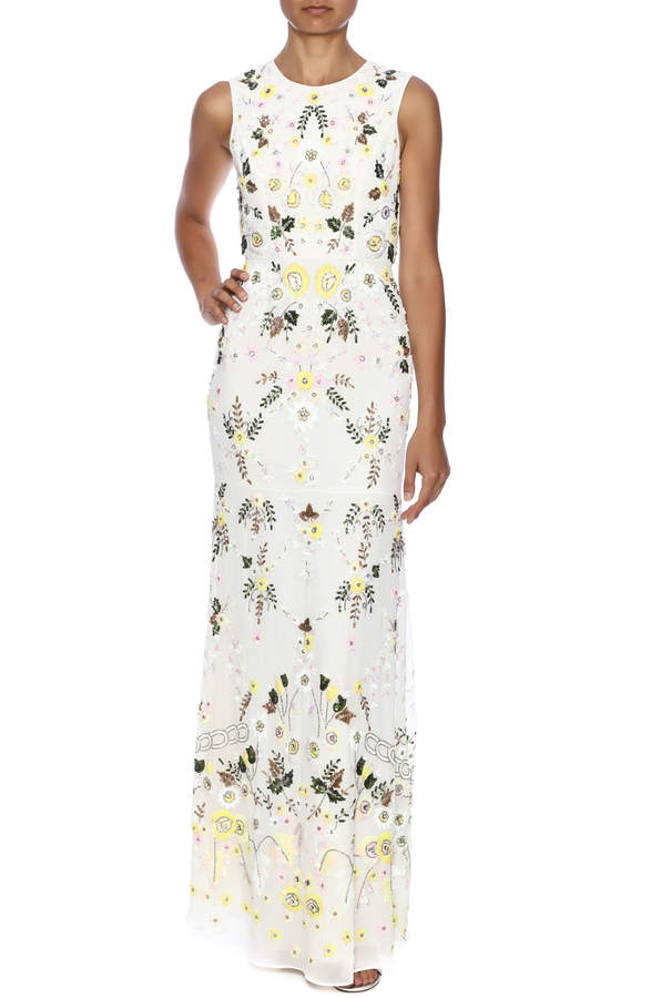 Needle & Thread Sequin Floral Maxi