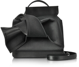 N°21 Black Satin Silk Crossbody Bag w/Iconic Bow On Front