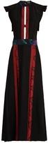 Burberry Contrast-panel open-back dress