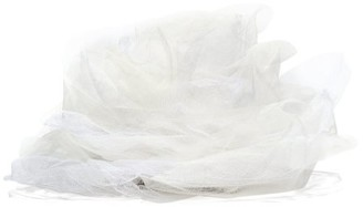 Stephen Jones Rose Tulle Veil Fascinator - White