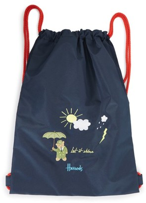 Harrods Weather Bear Drawstring Backpack