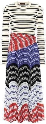 Altuzarra Woodbine striped midi dress