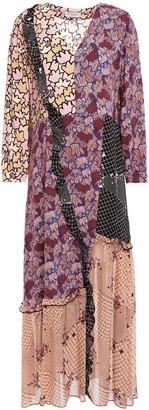 Hofmann Copenhagen Celia Patchwork-effect Printed Chiffon Midi Dress