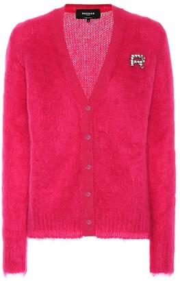 Rochas Embellished mohair-blend cardigan