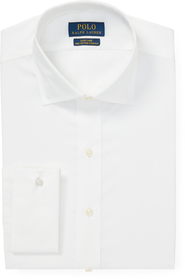 Ralph Lauren Easy Care Stretch Poplin Shirt with French Cuffs - All Fits