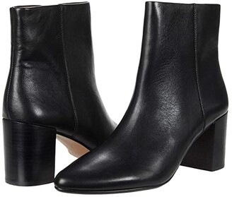 Madewell Nelly Pointy Toe Bootie (True Black) Women's Shoes