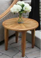 OUTDOOR INTERIORS Outdoor Interiors 24 in. Round Natural Teak Lounging Table