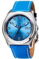 Perry Ellis Memphis Blue Leather Band Watch