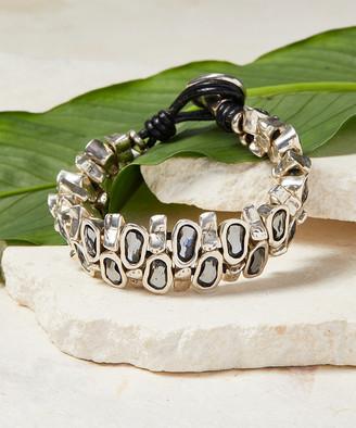 Uno de 50 UNOde50 Women's Bracelets Metal - Gray & Silver-Plated Wild Instinct Bracelet With Swarovski Crystals