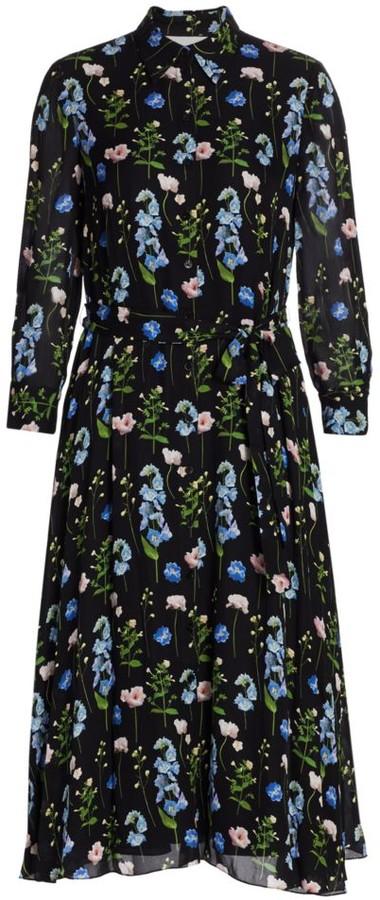 Carolina Herrera Floral Silk Shirtdress
