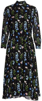 Carolina Herrera Floral Silk Shirtdress