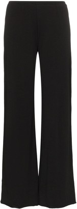 Skin Double layer wide leg trousers