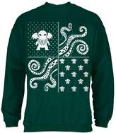 Old Glory Cthulhu Lovecraft Dimensions Ugly Christmas Sweater Forest Green Adult Sweatshirt - 2X-Large