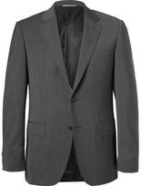 Canali Grey Wool-sharkskin Suit Jacket