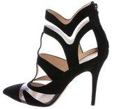 Monique Lhuillier PVC Pointed-Toe Ankle Boots