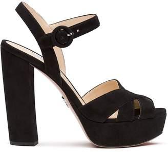 Prada crossover straps sandals