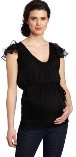 Ripe Maternity Women's Silk Frill Top
