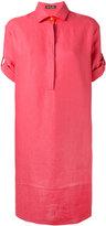 Loro Piana turn-up sleeve dress - women - Silk/Linen/Flax/Spandex/Elastane - L
