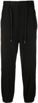 Neil Barrett Cropped Elasticated Cuff Trousers