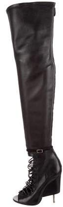 Givenchy Leather Thigh-High Boots