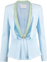 Vionnet Ruffle-trimmed silk-blend jacket