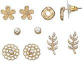 Lauren Conrad Leaf & Flower Stud Earring Set