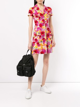 Camelia Print Shirt Dress