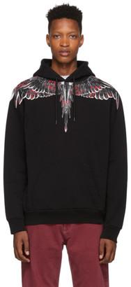 Marcelo Burlon County of Milan Black Flower Wings Hoodie