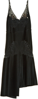 Stella McCartney Lace and pleated-satin dress