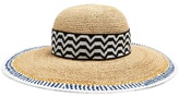 Missoni Contrast-trim straw hat