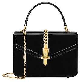 Gucci Women's Mini Sylvie Patent Leather Top Handle Bag