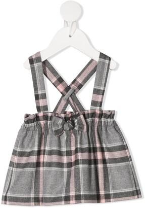 Il Gufo Check Print Skirt