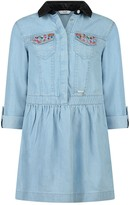 GUESS Blue Chambray Dress With Gems