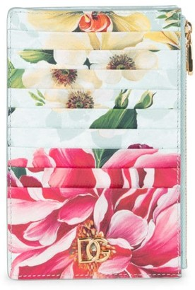 Dolce & Gabbana Floral Leather Card Case