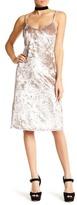 Love, Fire Velvet Midi Slip Dress