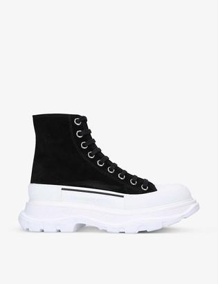 Alexander McQueen Tred Slick high-top suede boots