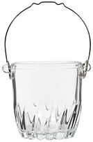 One Kings Lane Vintage 1960s Glass & Metal Handle Ice Bucket - 2-b-Modern - clear/silver