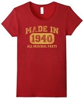 Børn in 1940 Tshirt 77th Birthday Gifts 77 yrs Years Made in--