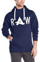 G Star Men's Afrojack Art Hooded Sw Long Sleeve Sweatshirts Blue